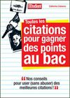 Citations au bac