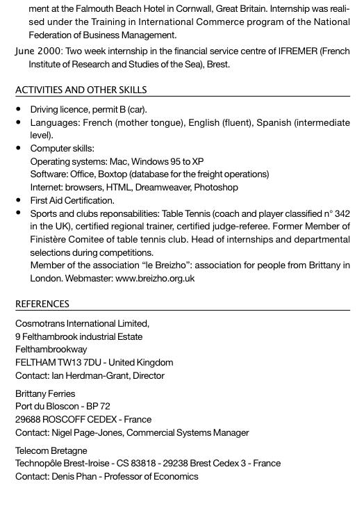 exemple cv assistant logistique