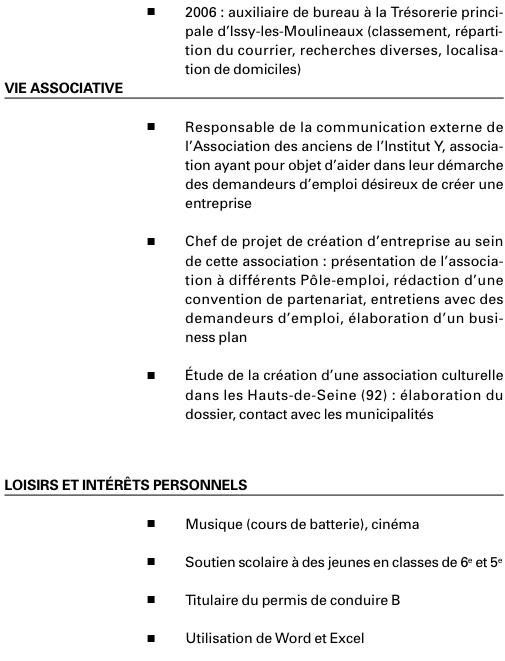resume format  pr u00e9sentation cv entretien