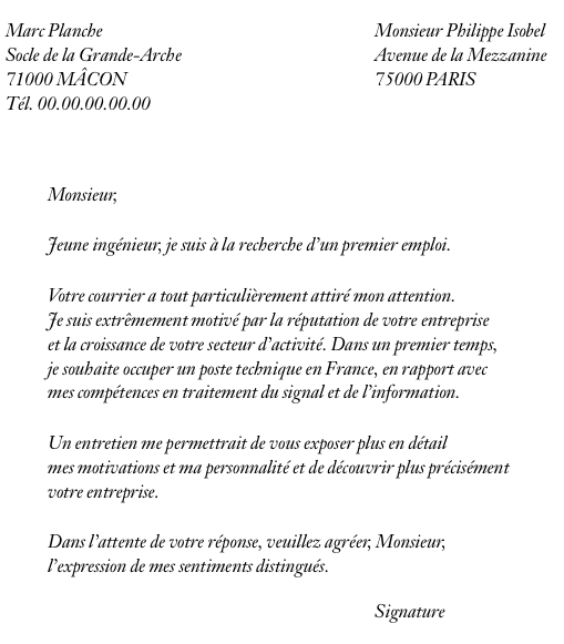 Exemple lettre motivation ecole de commerce