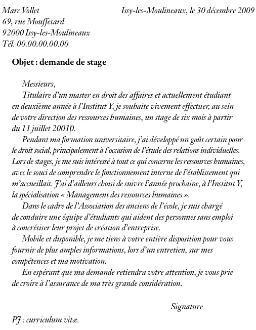 modele lettre de motivation universite licence