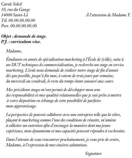 service communication  exemple lettre motivation service communication