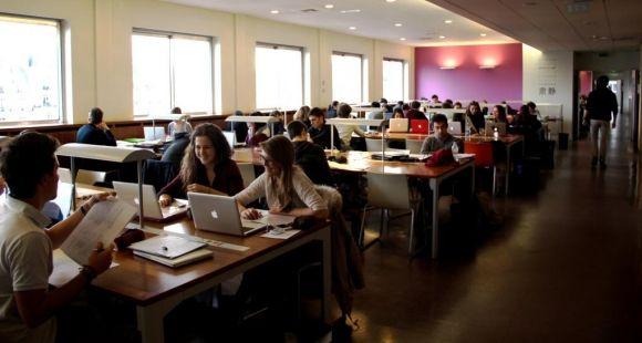 La bibliothèque de l'université Paris-Dauphine © M.-A.Nourry - février 2014