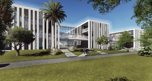 Le projet du futur campus de l'Essec à Rabat au Maroc (images de synthèse).