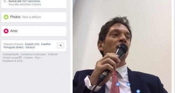 Bruno Dondero cours de droit sur Facebook