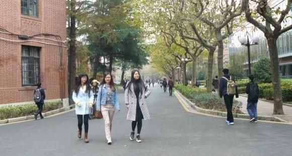 Campus de l'université Jiao Tong à Shanghai.