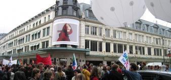 Manifestation du 7 octobre 2008, à Paris.