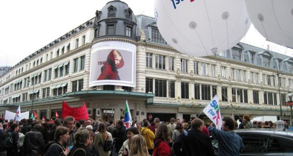 Manifestation du 7 octobre 2008, à Paris.