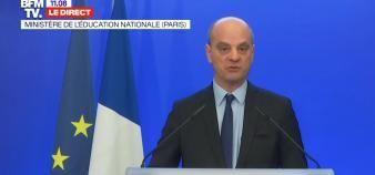 Jean-Michel Blanquer a annoncé que le bac 2020 serait attribué sur la base du contrôle continu. //©capture d'écran BFM TV