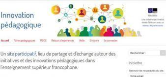 Visuel du site Innovation pédagogique. //©Creative Commons