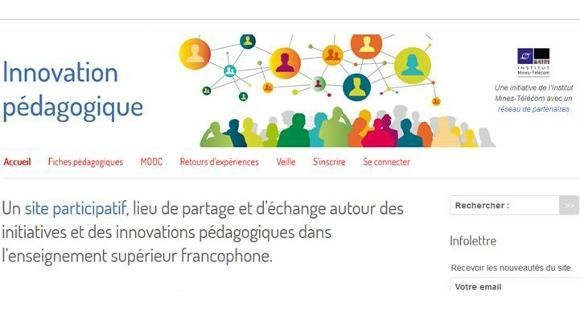 Visuel du site Innovation pédagogique.