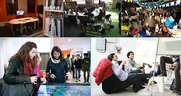 Universités : cinq lieux qui boostent la vie de campus, à Arras,  Saint-Etienne, La Rochelle, Montpellier et Saclay.