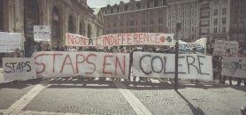 Manifestation des étudiants en STAPS du 9 avril 2014 © BDE STAPS Lille 2