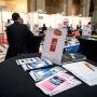 Forum Job Dating, en collaboration avec l'université d'Aix-Marseille. Rencontre entre jeunes diplomés et entreprises - 2013 //©Romain Beurrier / R.E.A