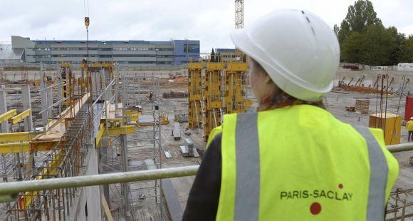 Campus université Paris-Saclay - Chantier de l'Ecole Centrale Paris - septembre 2015 USAGE UNIQUE