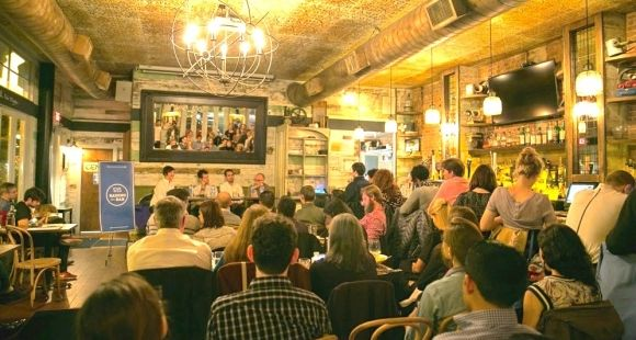 La première édition de Raising the Bar à New York en avril 2014... ou comment populariser le savoir universitaire
