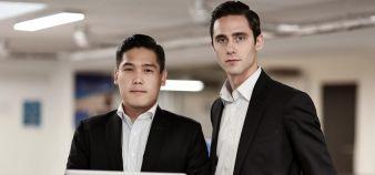 Charles Zhu et Clément Régnier, cofondateurs de TestWe : leur start-up spécialisée dans la digitalisation des processus d'examen a été appelée à la rescousse par Paris-Nanterre au plus fort du blocage de l'université au printemps 2018. //©Test We