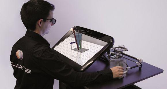 Dispositif V-Station de 3D immersive conçu par le laboratoire Virtualiteach