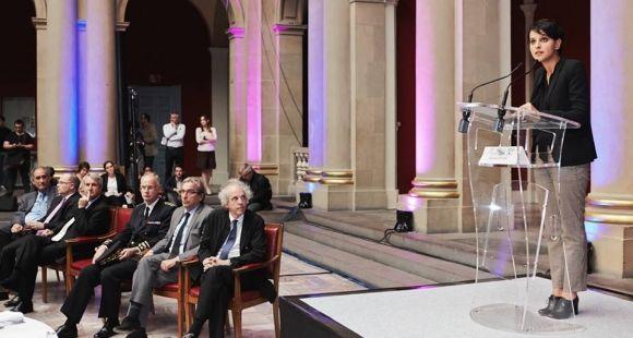 Najat Vallaud-Belkacem est intervenue lors du colloque de la CPU 2015 organisé à Strasbourg sur l'université 3.0 et les mutations du numérique