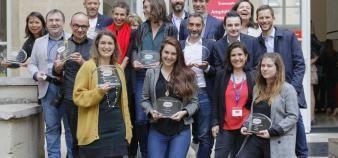 Les lauréats de l'édition 2019 des prix Arces de la communication à Sciences po. //©Arces