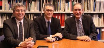 Khaled Bouabdallah, Gérard Blanchard et Jean-Loup Salzmann ont été élus au bureau de la CPU en 2012, réélus en 2014 //©Camille Stromboni