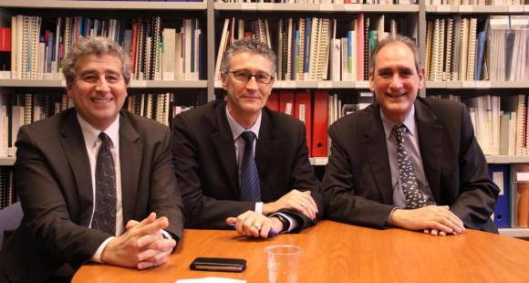 Khaled Bouabdallah, Gérard Blanchard et Jean-Loup Salzmann ont été élus au bureau de la CPU en 2012, réélus en 2014