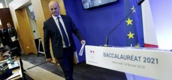 Jean-Michel Blanquer a annoncé mercredi 14 février une réforme du bac qui aura des conséquences importantes sur les processus d'orientation des lycéens. //©Nicolas Tavernier / R.E.A