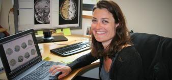 Mathilde Petton, doctorante en neurosciences et finaliste lyonnaise de MT180. //©S.Blitman - mai 2016