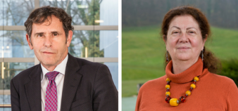 Le président de la Comue et la présidente de l'université ont échangé leur poste, le 11 janvier 2018. //©Renaud Chaignet/UGA
