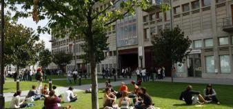 Des campus plus verts et plus respectueux de l'environnement : un vœu pieux qui tarde à se mettre en place. //©Nicolas Tavernier/REA