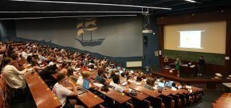 A l'université de Nantes, la rentrée de septembre s'est effectué en présentiel et sans jauge dans les amphithéâtres. //©université de Nantes