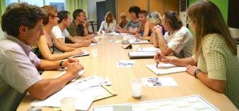 Signataires du contrat enseignant pédagogie innovante 2014-2015 à l'université de Perpignan // © Service communication UPVD