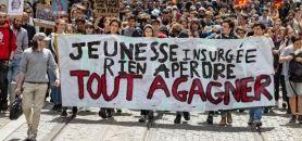 À Bordeaux et dans toute la France, les syndicats de salariés, rejoints par l'Unef, l'UNL, la Fidl et Solidaires, avaient appelé à manifester ce 12 mai 2016. //©Sebastien Ortola / R.E.A