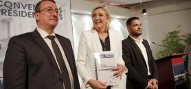 En septembre 2016, le Collectif Marianne avait remis à Marine Le Pen 100 propositions pour l'enseignement supérieur. //©Nicolas Tavernier/REA