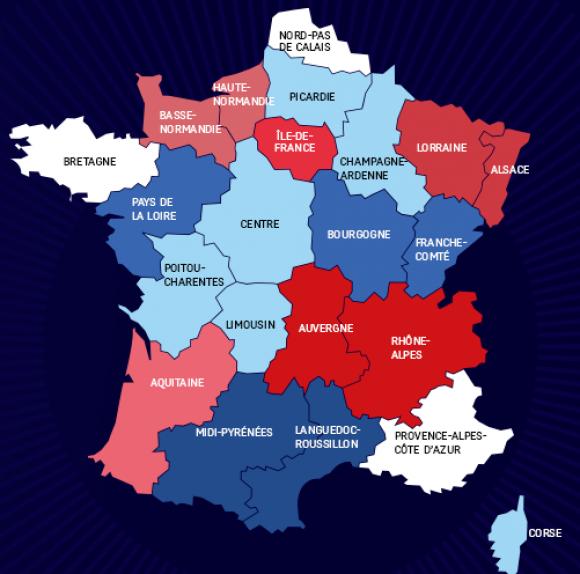 nouvelle carte des regions - Image