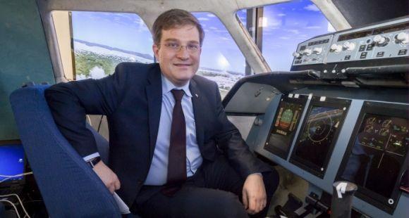 Godefroy Beauvallet, directeur du fonds AXA pour la recherche, lors du lancement de la chaire AXA ISAE sur les facteurs humains dans la sécurité aérienne - mars 2015