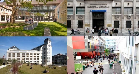 Paris Sorbonne-Nouvelle, Paris-Descartes, Paris-Diderot et Paris 13 ont décidé de fusionner en une seule université : Sorbonne-Paris-Cité.