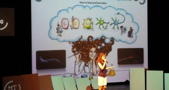 "La gagnante 2014 de la finale nationale de ""Ma thèse en 180 secondes"", Marie-Charlotte Morin"