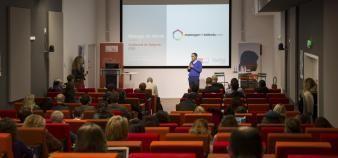 Intervention de Guillaume de Saignes, directeur de la transformation, lors du EdJobTech Day organisé par l'EM Lyon, le 29 novembre 2018. //©Erwan Lemarie pour Educpros