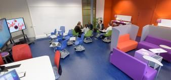 In several months, Lyon 3 will inaugurate large digital learning spaces with group project areas. //©David Venier | Université Jean Moulin Lyon 3