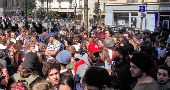 Manifestation post évacuation de Tolbiac 20 avril 2018