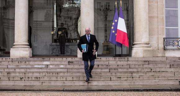 Jean-Michel Blanquer, à la sortie d'un conseil des ministres au Palais de l'Élysée