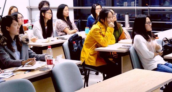 Cours de de sciences humaines à l'Institut franco chinois de Suzhou