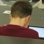 Les étudiants en 6e année de médecine passent les ECNi sur tablette numérique. //©Virginie Bertereau