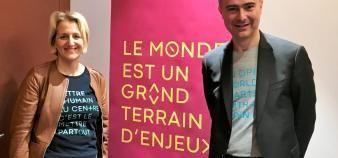 Agnès Grangé, présidente de Kedge BS, et José Milano, directeur général de l'école de management. //©Etienne Gless