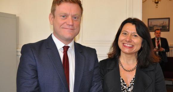 Benoît Thieulin et Marie-Laure Djelic, co-doyens de l'école du management et de l'innovation de Sciences po Paris