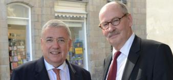 Guy Cathelineau, président de Rennes 1, et Jean- Emile Gombert, président de Rennes 2