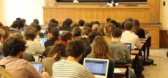 A Paris 1, la commission formation vie universitaire refuse de mettre en place la réforme du premier cycle. //©Camille Stromboni