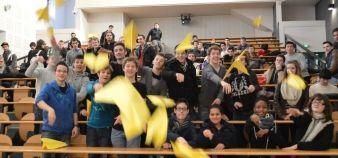 Février 2014. Des élèves ingénieurs de l'Isat Nevers et des lycéens ont participé au challenge Cargo visant à sensibiliser les jeunes à l'entrepreneuriat ©Polytechnicum //©Polytechnicum