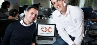 Pierre Dubuc and Mathieu Nebra, cofounders of OpenClassrooms. // © Julien Faure / R.E.A